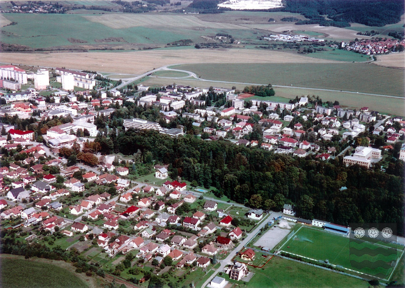 Turčianske Teplice Kúpele Mesto pohľad letecky